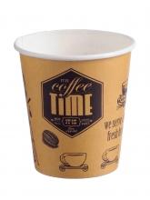 Стакан картонный одинарный под горячие напитки Coffee Time, 300 мл, 50 шт./упак.