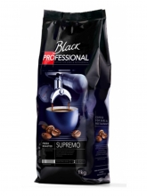 Кофе в зернах Black Professional Supremo (Блэк Профешинал Супремо)  1 кг, вакуумная упаковка