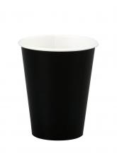 Стакан картонный одинарный под горячие напитки Паперскоп Черный, 250 мл, 50 шт./упак.