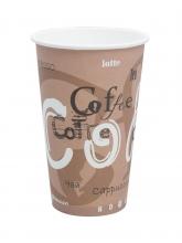 Стакан картонный одинарный под горячие напитки Паперскоп Coffee, 400 мл, 50 шт./упак.